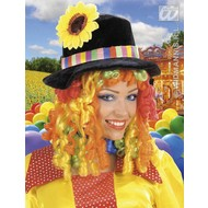 Party-accessoires: Clownspruik met hoed