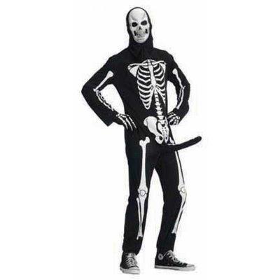 Skeletbone kostuum met piemel