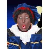 Zwarte Piet: Zwarte piet pruik met krul