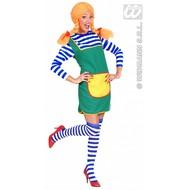 Vrijgezellen-outfit: kousen blauw/wit 64cm
