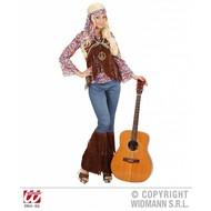 Vrijgezellen-outfit: Hippie vrouw psychedelisch