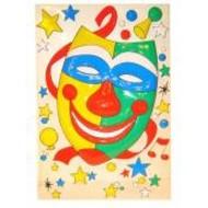 Vrijgezellen-outfit: clownsdeco masker