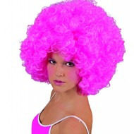 Party-wigs: Roze Afro-pruik