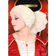Carnaval- & feest accessoires: Mozart-pruiken (kleur gebroken wit)