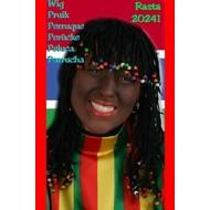 Carnaval- & feest accessoires: Rasta pruik met kralen