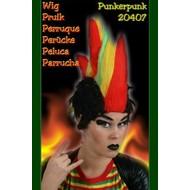 """Carnaval- & feest accessoires: Pruik """"Flame rood/geel/groen"""""""