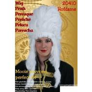 Carnaval- & feest accessoires: Pruik Hofdame hoog model