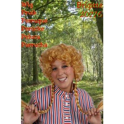 Blonde boerenpruik Brigitte