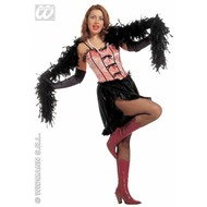 Feestkleding Saloon girl, fluweel