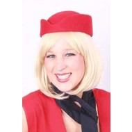 Party- & feest accessoires: Stewardessen hoedje