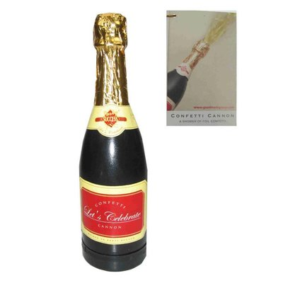 Mooie party champagnefles met confetti