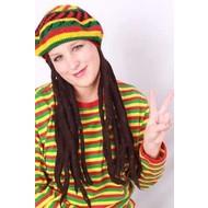 Carnaval- & feest accessoires: Bob Marley Pruik