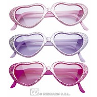 Kinderbril glitterhart