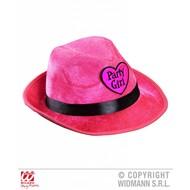 Fedora hoed party girl roze