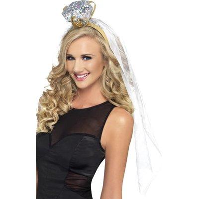 Bruidssluier Vera met kroontje