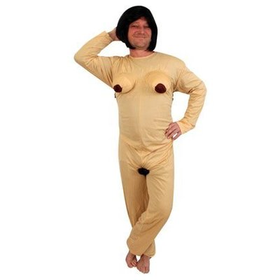 Naakte vrouw kostuum