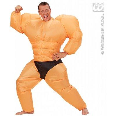 Opblaas body builderpak voor kerels