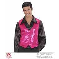 Roze glitter vesten voor mannen