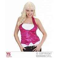 Roze glittervestjes voor dames