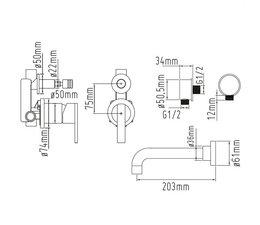 Sento-Stainless RVS Inbouw bad doucheset SB111-SD102