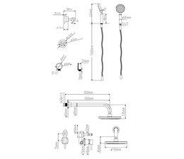 Sento-Stainless RVS inbouw Regendouche SD114
