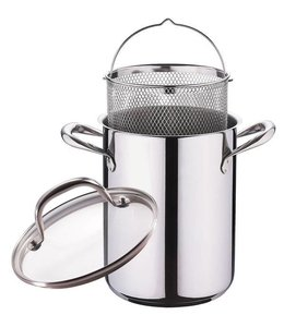 Roestvrijstalen asperge-/ pastapan met deksel