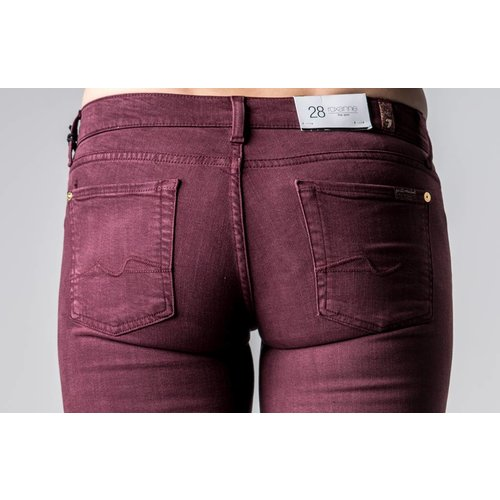 7 FOR ALL MANKIND ROXANNE SILK TOUCH BORDEAUX