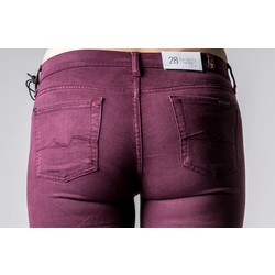 7 FOR ALL MANKIND THE SKINNY SATEEN BURGUNDY
