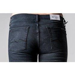 7 FOR ALL MANKIND THE SKINNY BLACK WASHED
