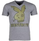 Mascherano T-shirt - Destroy - Grijs