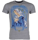 Mascherano T-shirt - Holy Mary - Grijs
