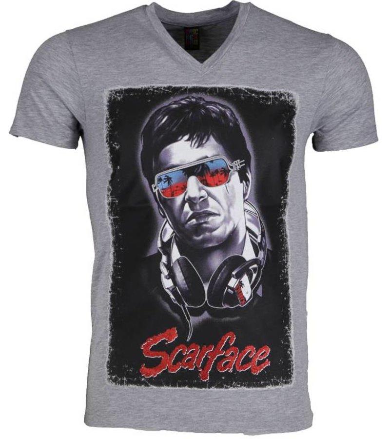 Mascherano T-shirt - Scarface - Grijs