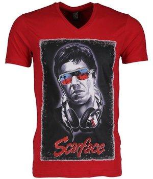 Mascherano T-shirt - Scarface - Rood