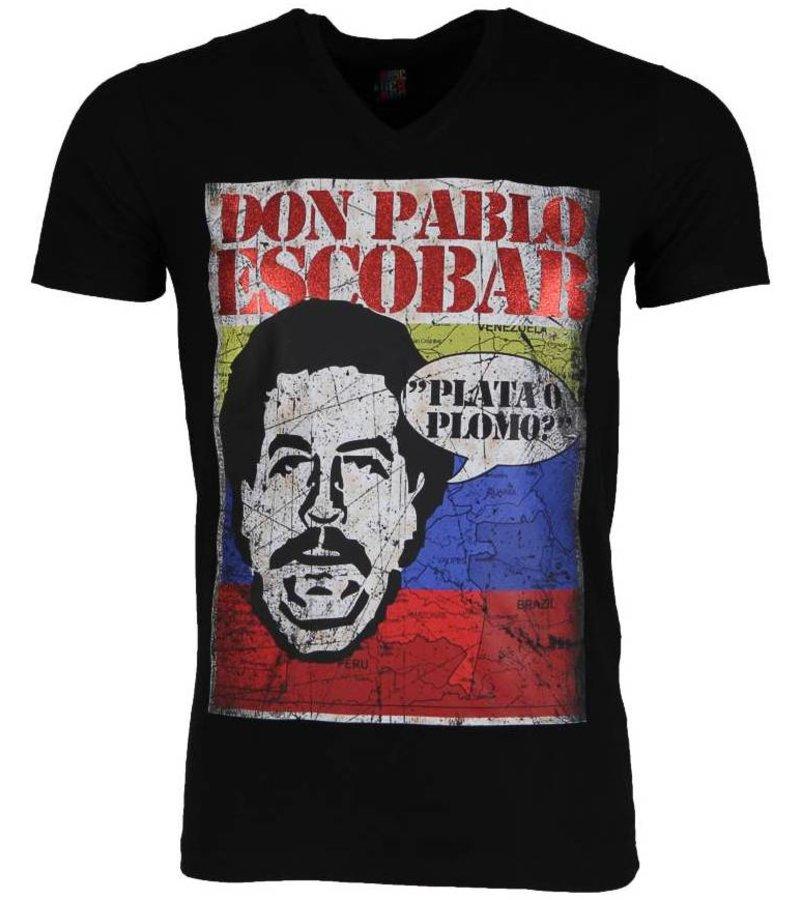 Mascherano T-shirt - Don Pablo Escobar - Zwart