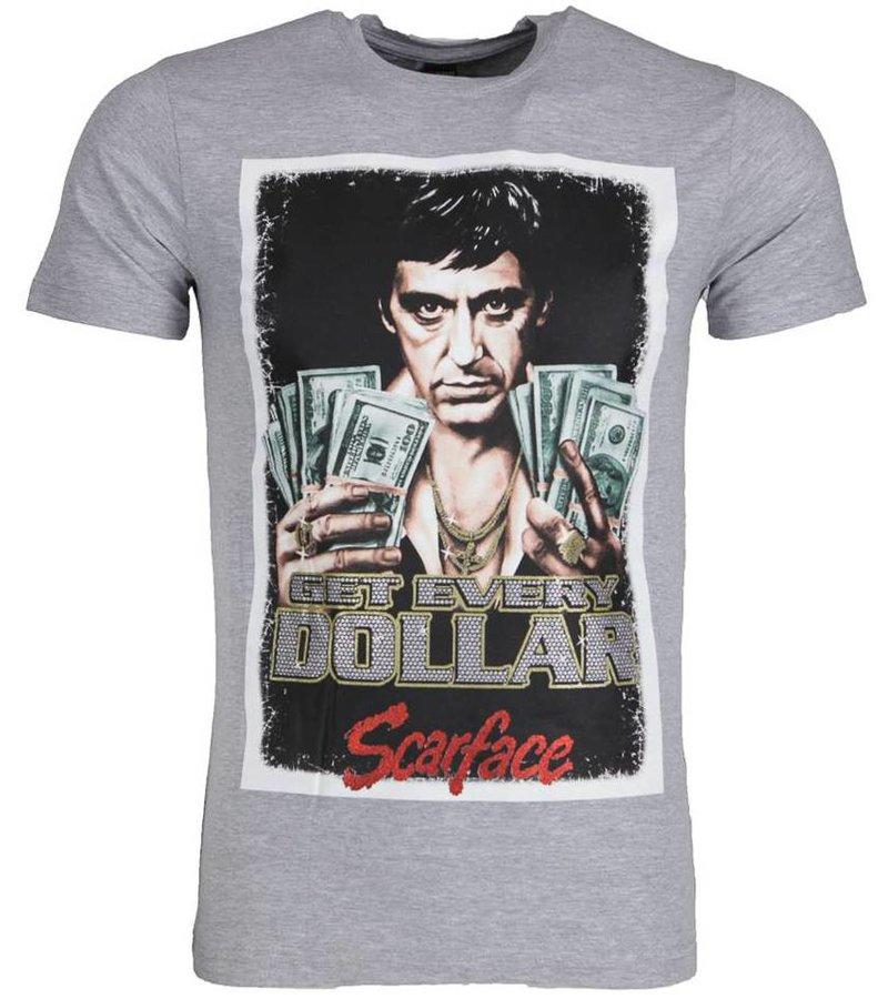 Mascherano T-shirt - Scarface Get Every Dollar - Grijs