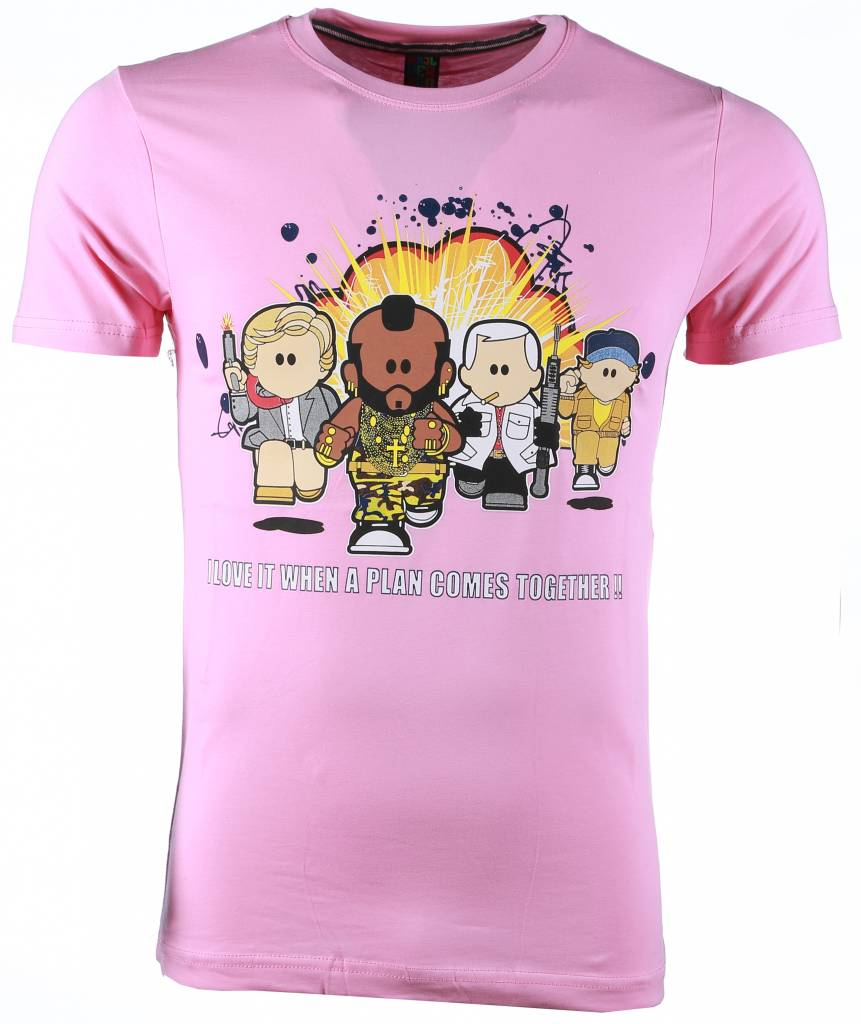 T shirt a team print roze style italy for Team t shirt printing