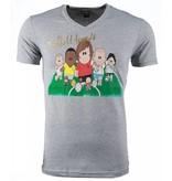 Mascherano T-shirt - Football Legends Print - Grijs