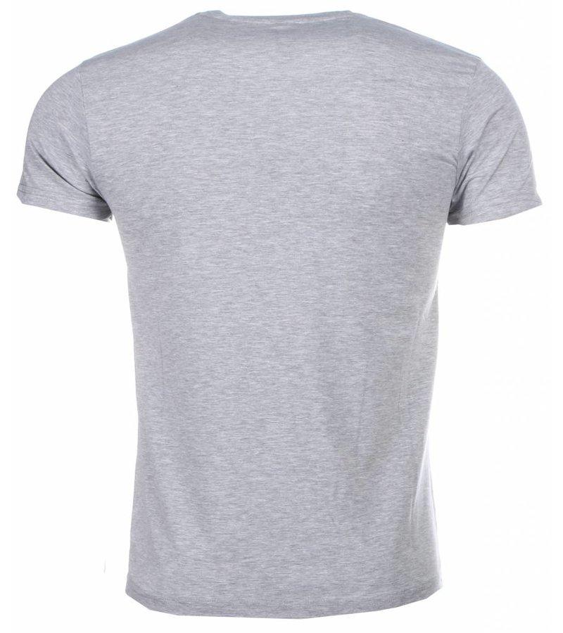 Mascherano T-shirt - Anonymous Disobey Print - Grijs