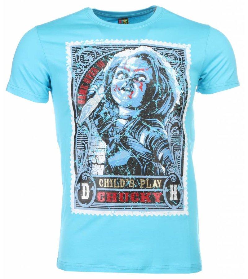 Mascherano T-shirt - Chucky Poster Print - Blauw