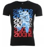 Mascherano T-shirt - Zidane Print - Zwart