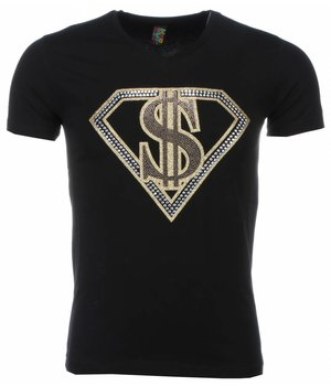 Mascherano T-shirt - Superman Dollar Print - Zwart