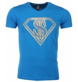Mascherano T-shirt - Superman Dollar Print - Blauw