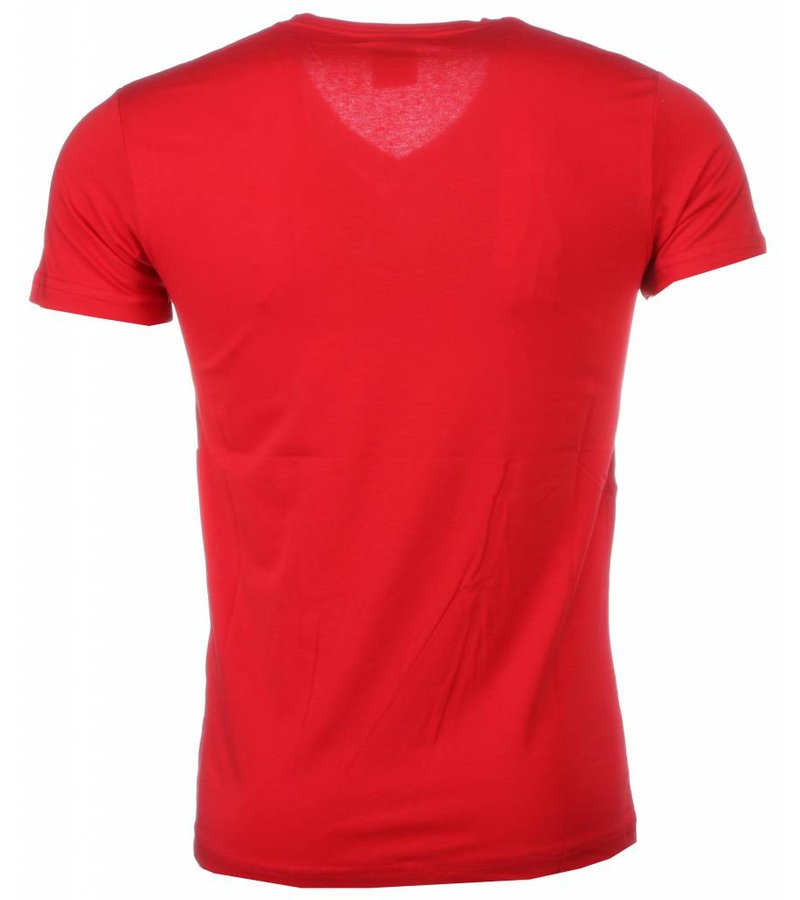 David Mello T-shirt - Blanco Exclusive - Rood