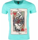 Mascherano T-shirt - James Bond Casino Royale Print - Groen