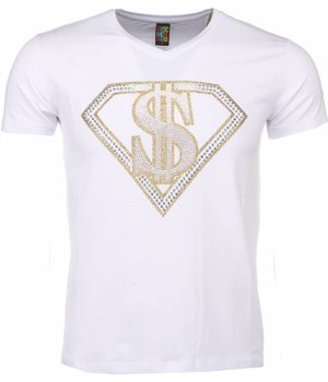 Mascherano T-shirt - Superman Dollar Print - Wit