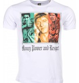 Mascherano T-shirt - Scarface Money Power Respect Print - Wit