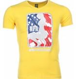 Mascherano T-shirt - NPA Print - Geel