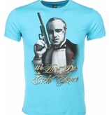 Local Fanatic T-shirt - Godfather Print - Turquoise