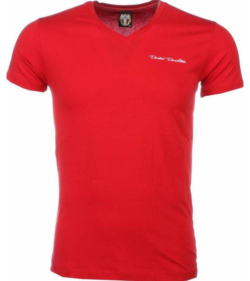 David Mello T-shirt - Blanco Exclusive - Rood
