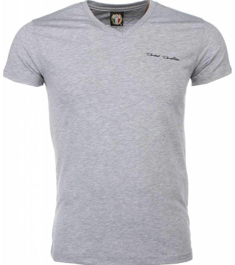 David Mello T-shirt - Blanco Exclusive - Grijs